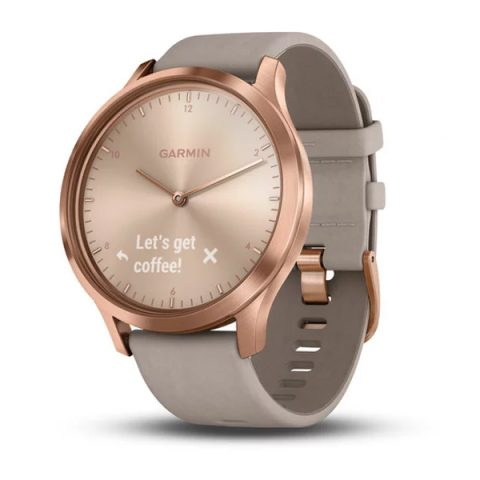 Rose Gold with Gray Suede Band