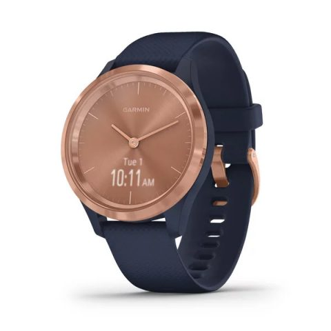 Rose Gold Stainless Steel Bezel with Navy
