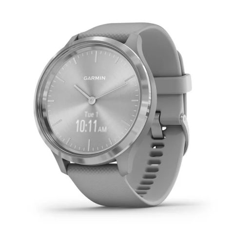 Silver Stainless Steel Bezel with Powder Gray