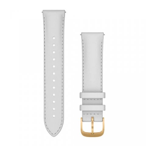 White Italian Leather with 24K Gold PVD Hardware