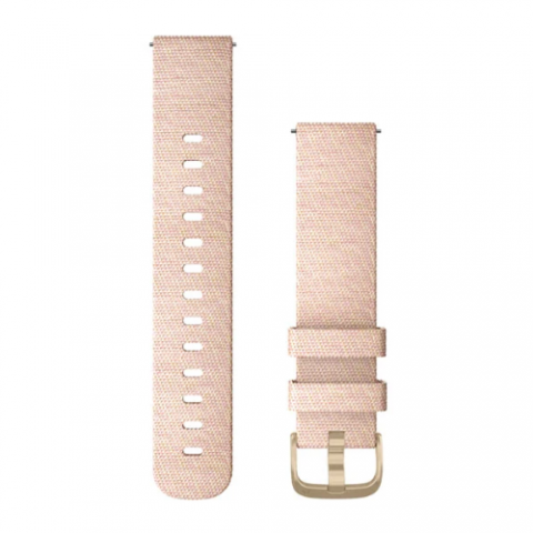Blush Pink Woven Nylon with Light Gold Hardware