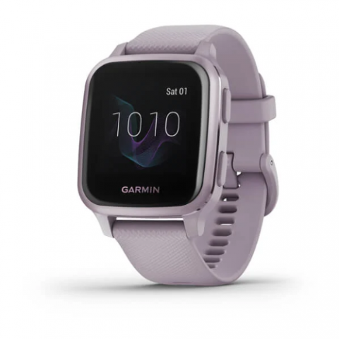 Metallic Orchid Aluminum Bezel with Orchid Case and Silicone Band