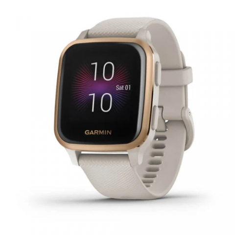 Rose Gold Aluminum Bezel with Light Sand Case and Silicone Band