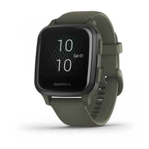Slate Aluminum Bezel with Moss Case and Silicone Band